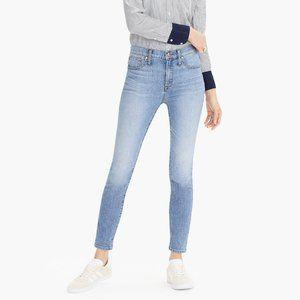 "J. CREW 9"" High Rise Toothpick Eco Jeans Light GG8"